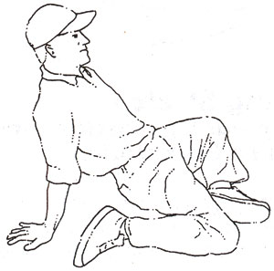 Golf tip articles golf stretches doc 39 s golf tips for Floor quad stretch
